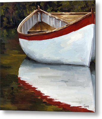 Boat Into The River Metal Print by Jose Romero