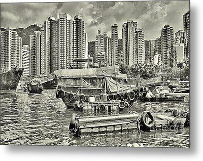 Boat Life In Hong Kong Metal Print by Joe  Ng