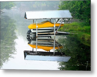 Metal Print featuring the photograph Boat Reflections by Ann Murphy