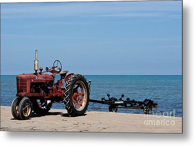 Metal Print featuring the photograph Boat Trailer by Barbara McMahon