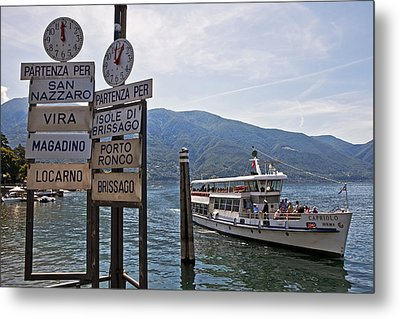 Boat Trip On Lake Maggiore Metal Print by Joana Kruse