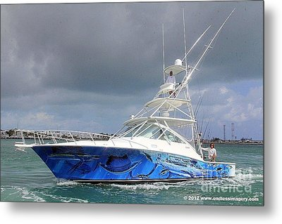 Boat Wrap On Cabo Metal Print by Carey Chen