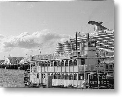 Metal Print featuring the photograph Boats - The Past And Now by Jasna Gopic