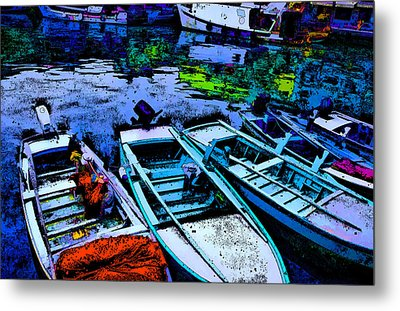 Boats 2 Metal Print by Mauro Celotti