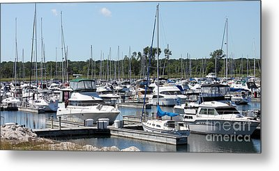 Metal Print featuring the photograph Boats At Winthrop Harbor by Debbie Hart