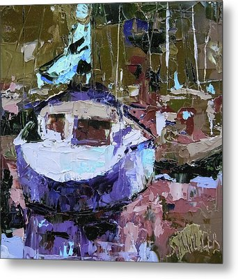Boats Of A Different Color Metal Print
