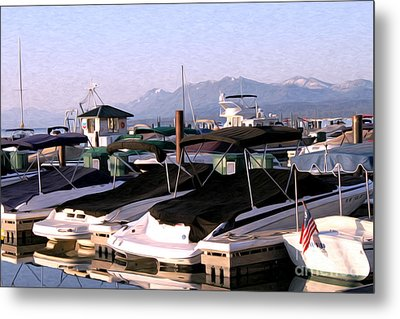 Metal Print featuring the photograph Boats On The Lake by Anne Raczkowski