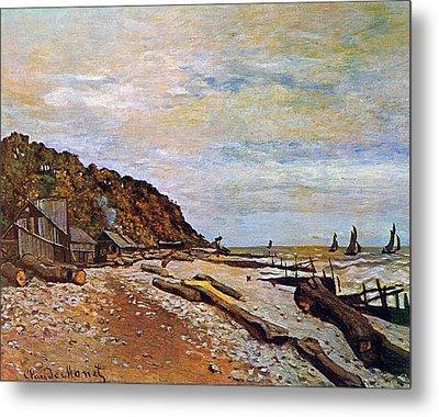 Boatyard Near Honfleur Metal Print by Claude Monet