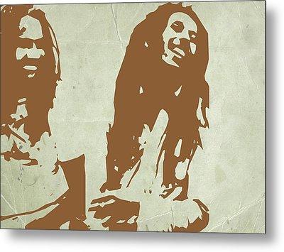 Bob Marley Brown 2 Metal Print by Naxart Studio