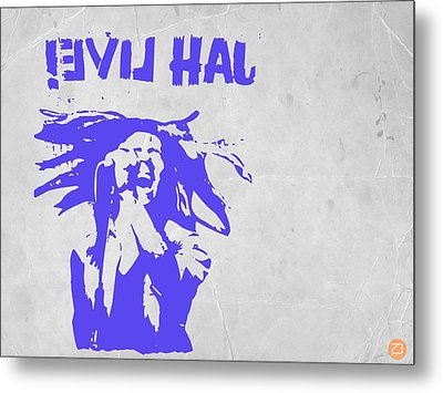 Bob Marley Purple 2 Metal Print by Naxart Studio