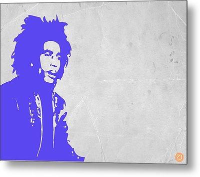 Bob Marley Purple 3 Metal Print by Naxart Studio