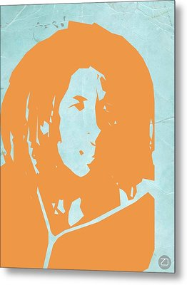 Bob Marley Yellow 2 Metal Print by Naxart Studio