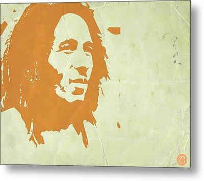 Bob Marley Yellow 3 Metal Print by Naxart Studio