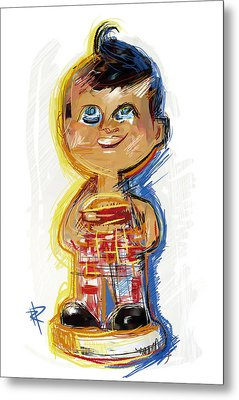 Bob's Big Boy Bobble Head Metal Print