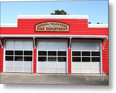 Bodega Volunteer Fire Department . Bodega Bay . Town Of Bodega . California . 7d12461 Metal Print by Wingsdomain Art and Photography