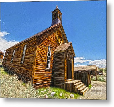 Bodie Ghost Town - Church 04 Metal Print by Gregory Dyer