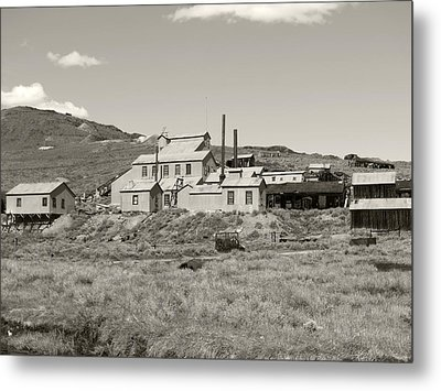 Bodie Ghost Town California Gold Mine Metal Print by Philip Tolok