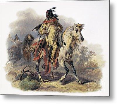 Bodmer: Blackfoot Horseman Metal Print by Granger