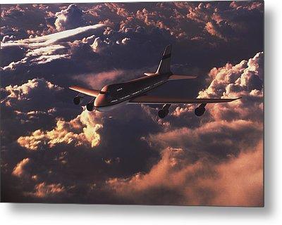 Boeing 747 Metal Print by Mike Miller