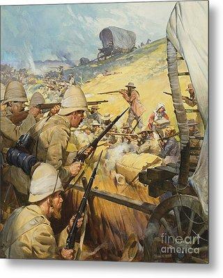 Boer War Skirmish Metal Print by James Edwin McConnell