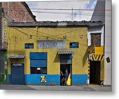 Metal Print featuring the photograph Bogota Shop by Steven Richman