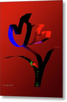 Metal Print featuring the digital art Bold And Beautiful by Asok Mukhopadhyay