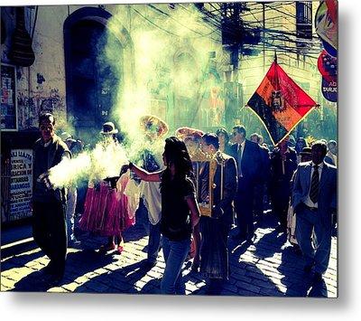 Bolivia Celebrations   Metal Print by Jade Sayers