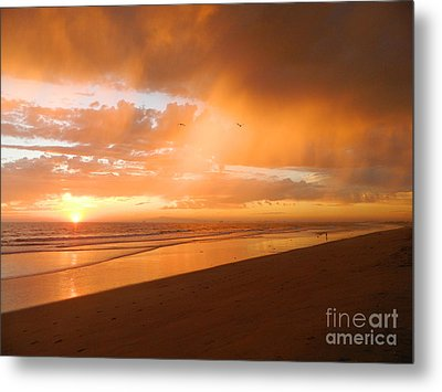 Metal Print featuring the photograph Bolsa Chica Sunset by Everette McMahan jr