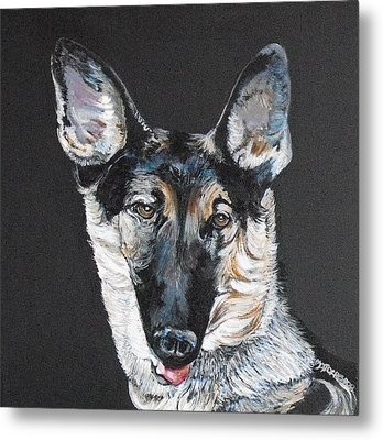 Bolt The King Metal Print by Melissa Torres