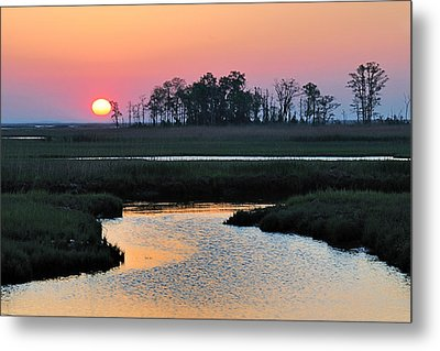 Bombay Hook Sunrise Metal Print