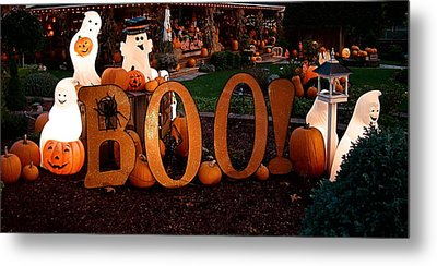 Metal Print featuring the photograph BOO by Nick Kloepping