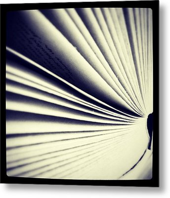 #book #reading #pages #photooftheday Metal Print by Ritchie Garrod