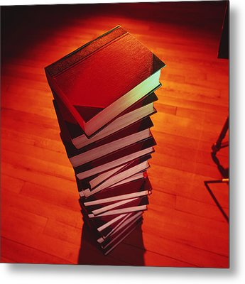 Books Metal Print by Tek Image