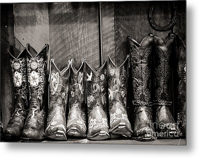 Boots Metal Print by Sherry Davis