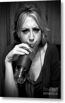 Metal Print featuring the photograph Boredom At Its Best by Leslie Hunziker