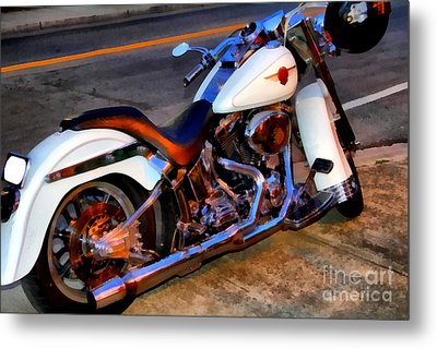 Boss Hog . Harley-davidson .  7d12757 Metal Print by Wingsdomain Art and Photography