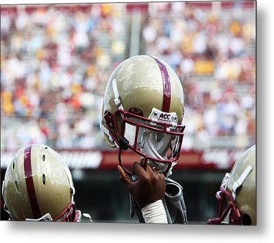 Boston College Helmet Metal Print by John Quackenbos