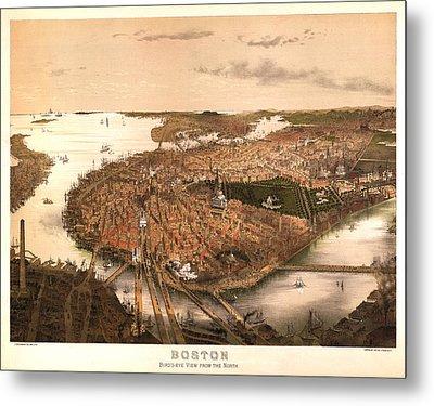 Boston Massachusetts 1877 Metal Print by Donna Leach