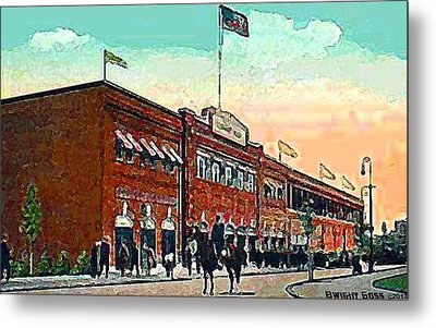 Boston's Fenway Park In 1914 Metal Print by Dwight Goss