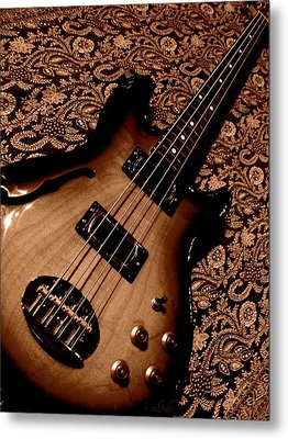 Botanical Bass Metal Print by Chris Berry
