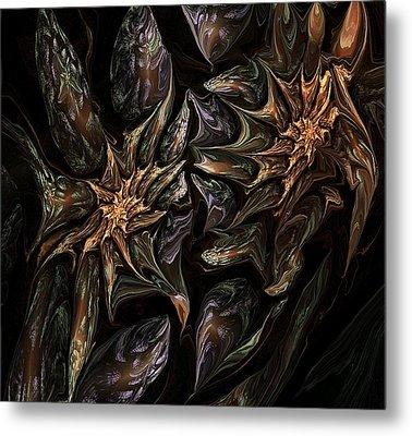 Botanical Fantasy 123011 Metal Print by David Lane