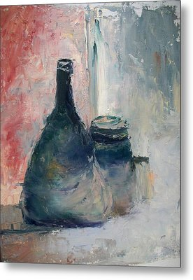 Metal Print featuring the painting Bottle And Jar by Sarah Farren