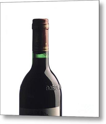 Bottle Of French Wine Metal Print by Bernard Jaubert