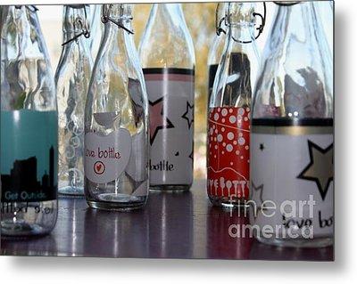 Bottles Metal Print by Tanja Hymel