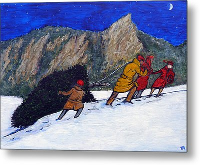 Boulder Christmas Metal Print by Tom Roderick