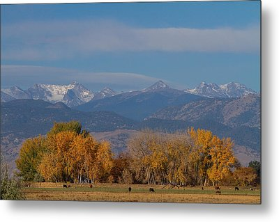 Boulder County Colorado Continental Divide Autumn View Metal Print by James BO  Insogna