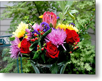 Bouquet  3 Metal Print by Tanya  Searcy