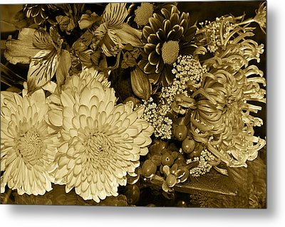 Bouquet In Sepia Metal Print by Phyllis Denton