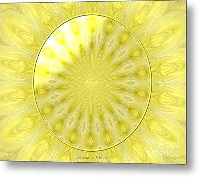 Bouquet Of Roses Kaleidoscope 7 Metal Print by Rose Santuci-Sofranko