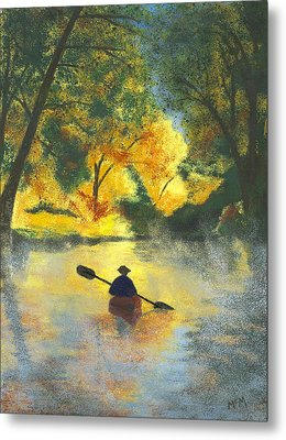 Bourbeuse River Sunrise Metal Print by Garry McMichael